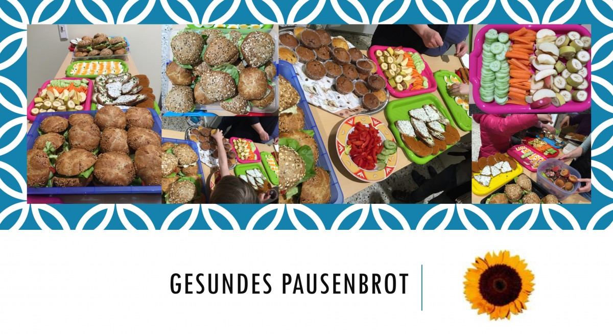 Collage gesundes Pausenbrot
